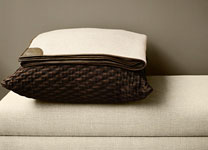 TARO <span>cashmere with nappa leather throw</span> ASOLO <span>pillow</span>