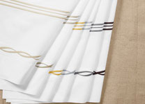 EMBROIDERY COLORWAYS <span>(extensive color card available) <br>left to right: cream, sand, zest, smoky blue, charcoal, chocolate</span>