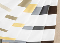 CONTRAST BORDER COLORWAYS <span>(extensive color card available)<br>left to right: cream, sand, zest, smoky blue, charcoal, chocolate</span>